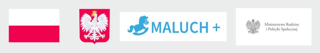 Obrazek przedstawia logotypy programu Maluch + 2021